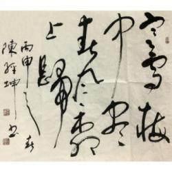 中国书法家协会河北分会会员 陈经坤《寒雪梅中尽,春风柳上归》