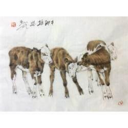 职业画家 郑柏林《牛系列3》