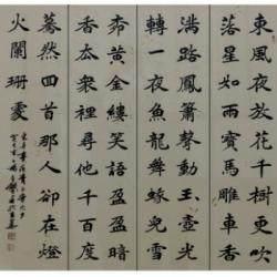 中国书法家协会理事 杨广馨《青玉案》