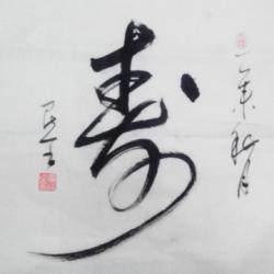 北京市通州区文联书法家协会理事 雷民全《寿》4平尺
