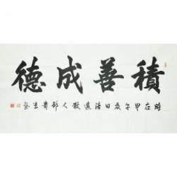 江西省书法家协会会员 邹贵生《积善成德》
