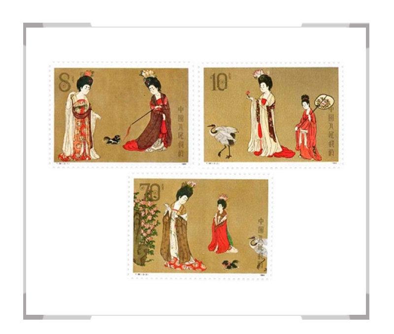 T89中国绘画·唐·簪花仕女图