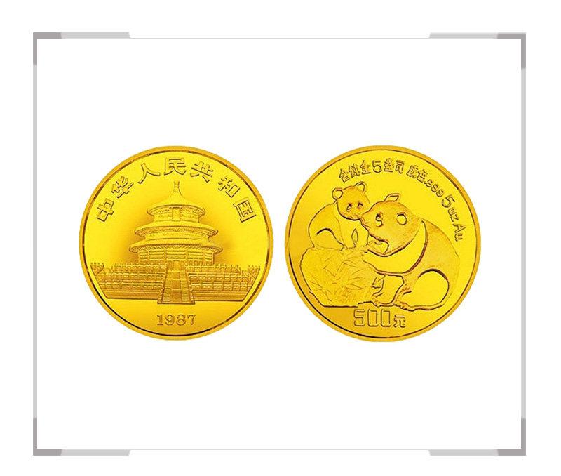 1987 熊猫纪念币5盎司精制金币