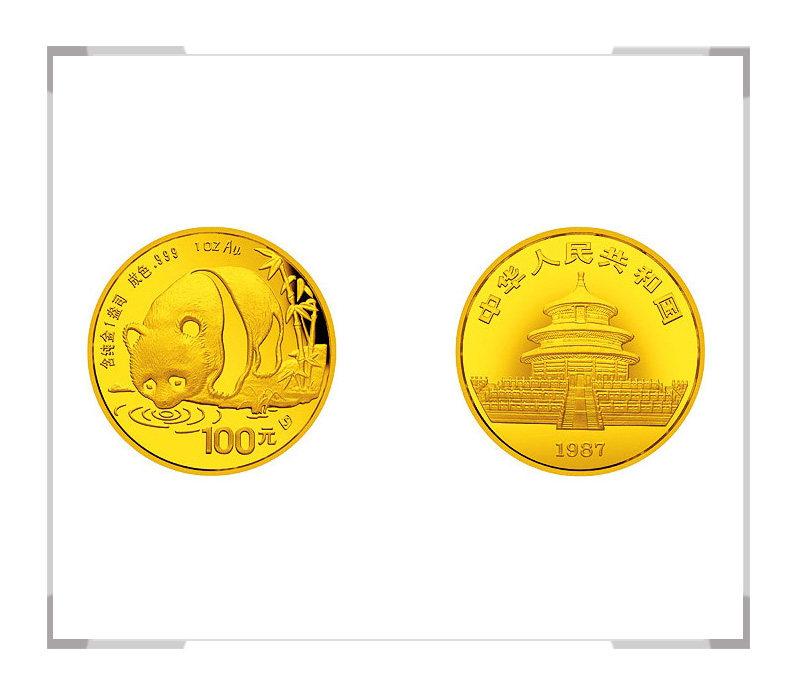 1987 熊猫纪念币1盎司普制金币