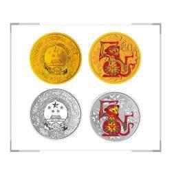 2016丙申猴年生肖金银纪念币 彩金银套装