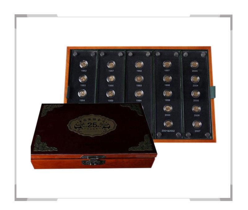 中国熊猫金币发行25周年纪念金币套装