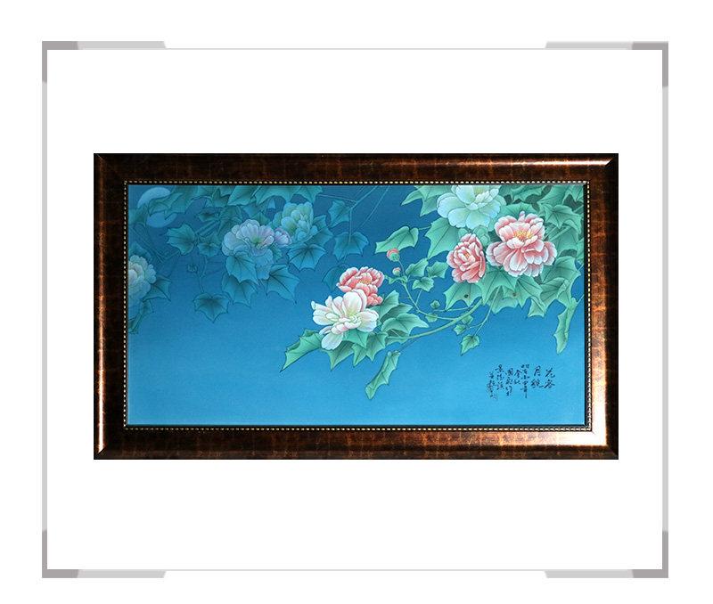 花容月貌 瓷板画-曹国飞作品【大国工匠 瓷艺东方】