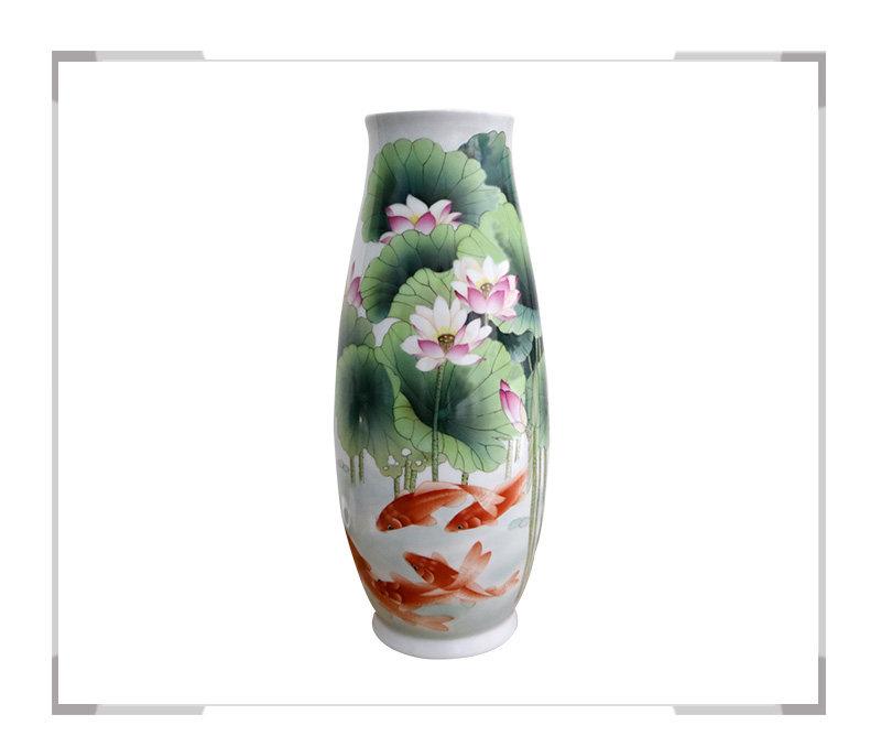 莲年有余 花瓶-方国宾作品【大国工匠 瓷艺东方】