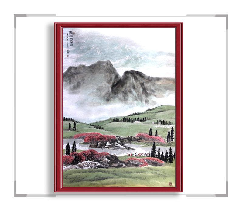 中国美术家协会会员程振铎,山水系列之草原其一【大国工匠 翰墨天下】