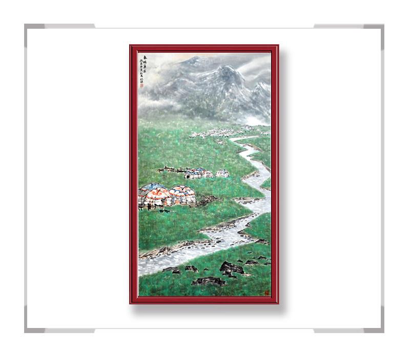 中国美术家协会会员程振铎,山水系列之草原其二【大国工匠 翰墨天下】
