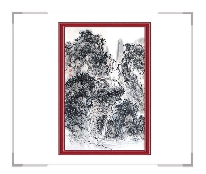 季清龙作品-水墨山水画(第一款)【大国工匠 翰墨天下】