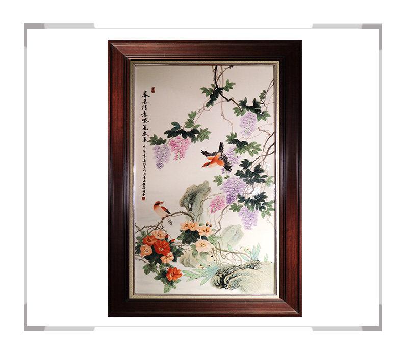 春风得意紫气东来 瓷板画-徐杰作品【大国工匠 瓷艺东方】