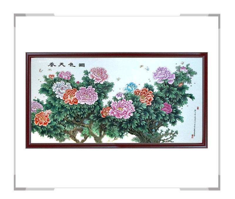 国色天香-瓷板画-徐杰作品【大国工匠 瓷艺东方】