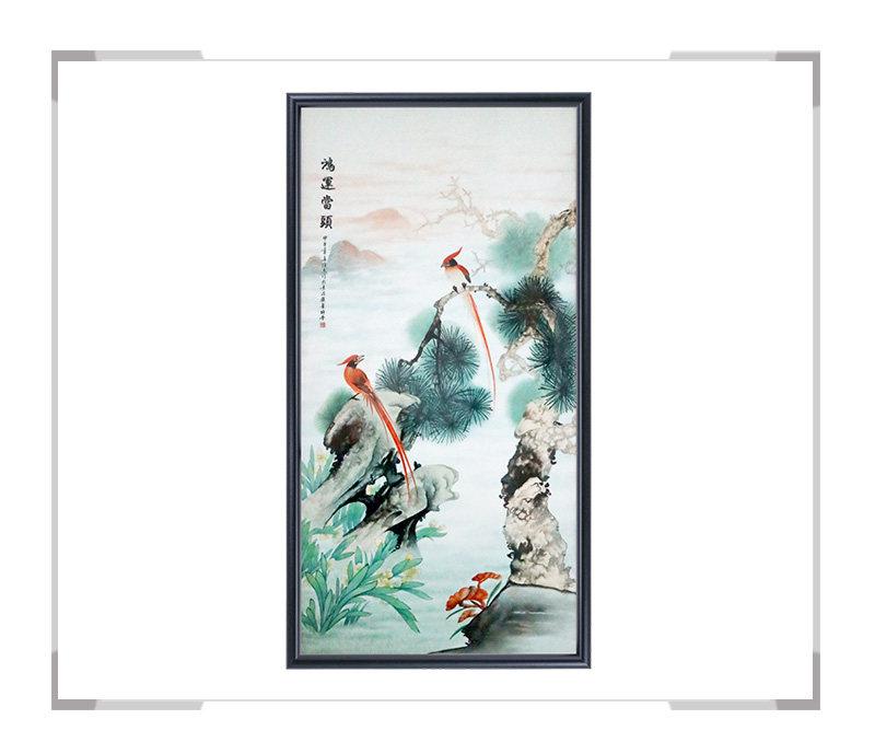 鸿运当头-瓷板画-徐杰作品【大国工匠 瓷艺东方】