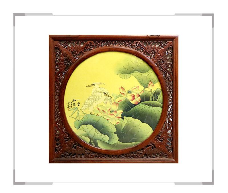一堂和气-瓷板画-徐杰作品【大国工匠 瓷艺东方】