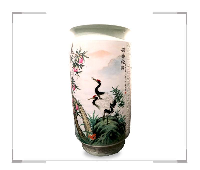 鹤寿松龄-花瓶-徐杰作品【大国工匠 瓷艺东方】