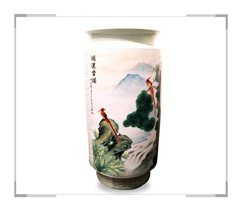 鸿运当头-花瓶-徐杰作品【大国工匠 瓷艺东方】