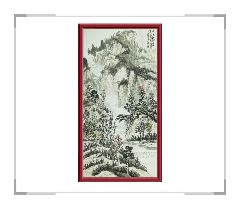 中国美协会员何仁诰-竖幅山水画其二
