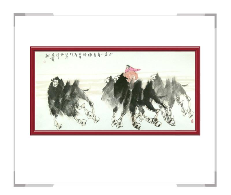 中国美术家协会会员胡国伟作品-骆驼横幅其一