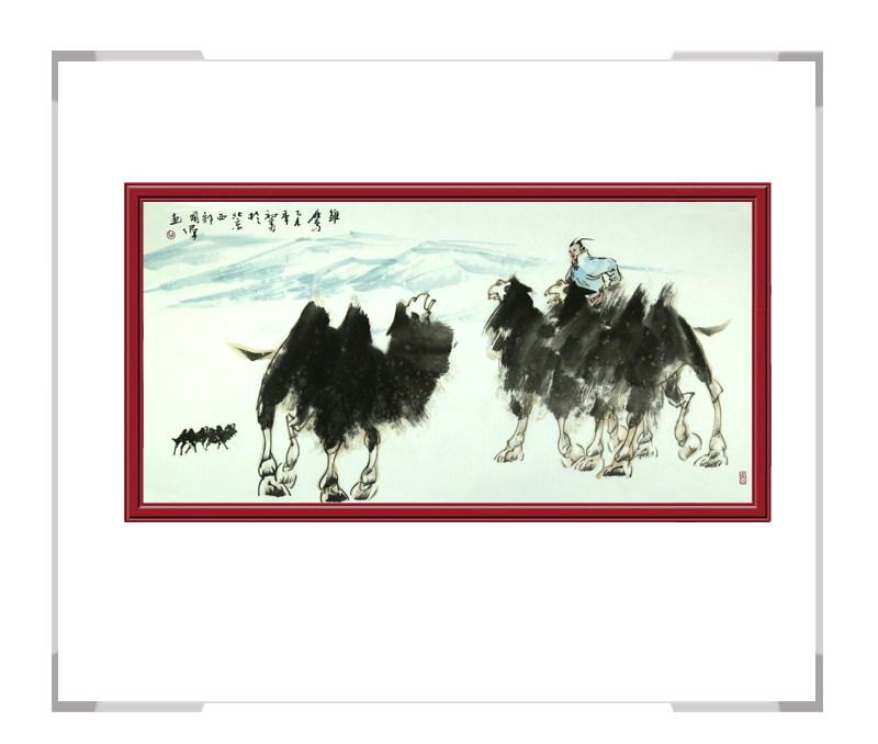 中国美术家协会会员胡国伟作品-骆驼横幅其二