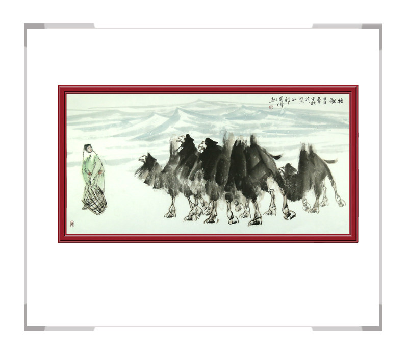 中国美协会员画家胡国伟-横幅作品骆驼第二款