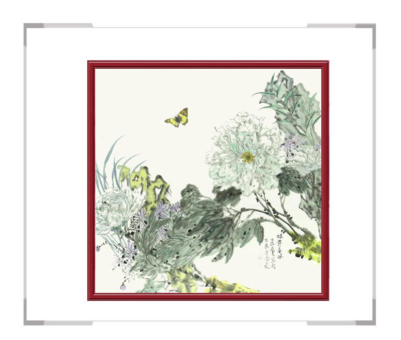 中国美协会员画家李涛作品-斗方花鸟第二款
