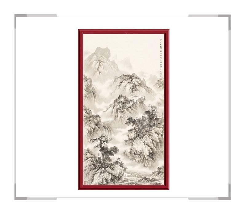 中国美术家协会会员刘广作品-竖幅山水第一款