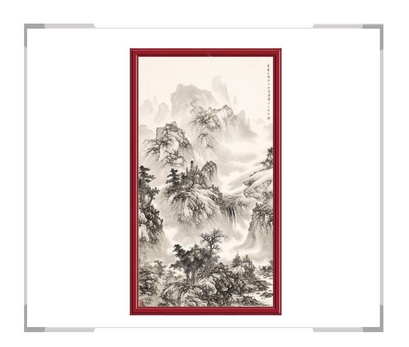 中国美术家协会会员刘广作品-竖幅山水第二款