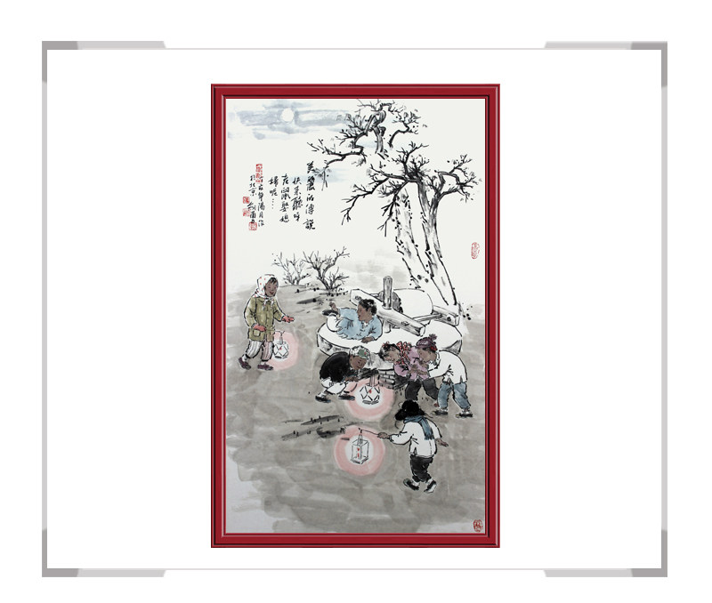 当代艺术家刘剑勇作品-竖幅人物第二款