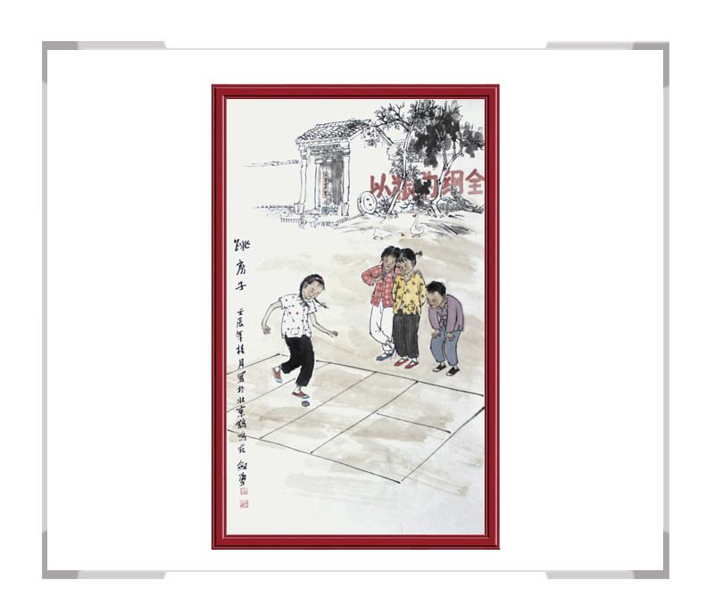 当代艺术家刘剑勇-民俗人物画第二款