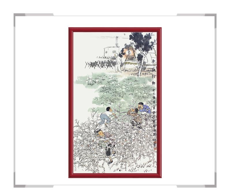 当代艺术家刘剑勇老师-竖幅人物画第二款午夜行动