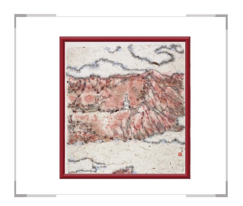 当代艺术家刘牧作品-十二月彩色风景系列之一月