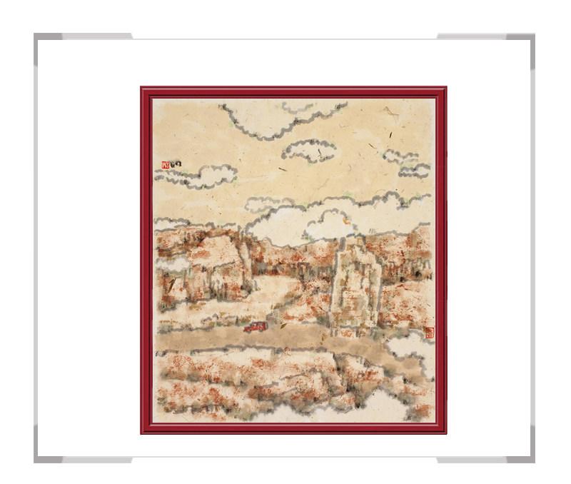 当代艺术家刘牧作品-十二月彩色风景系列之二月