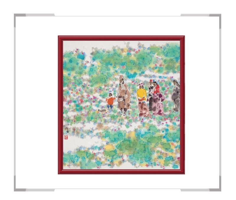 当代艺术家刘牧作品-十二月彩色风景系列之三月