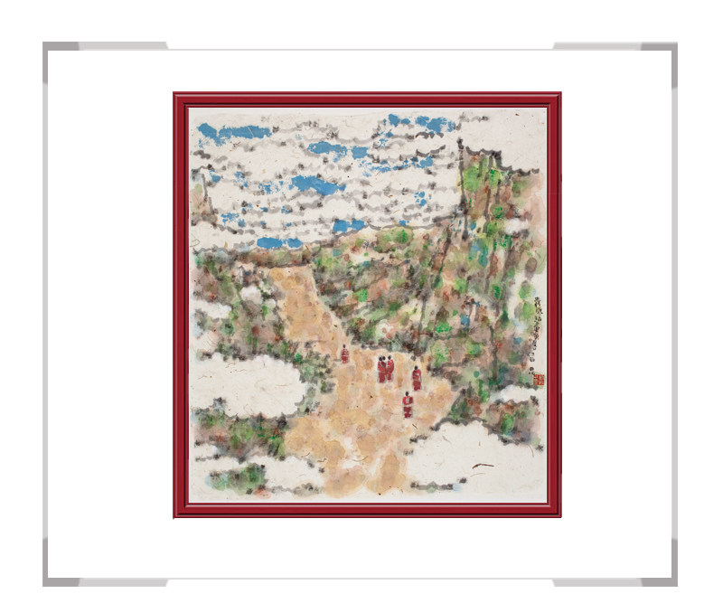当代艺术家刘牧作品-彩色十二月主题风景之四月