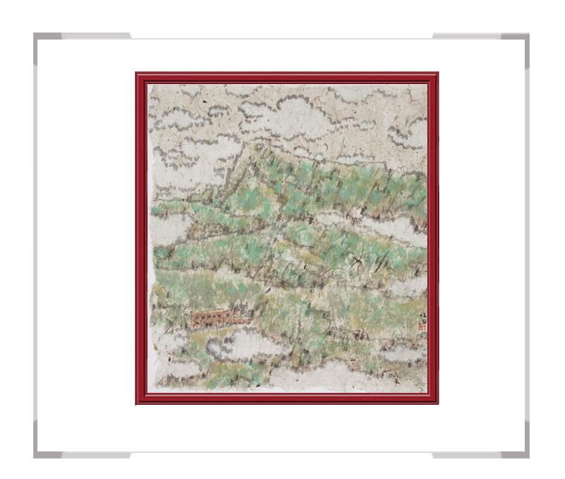当代艺术家刘牧作品-彩色十二月主题风景之五月