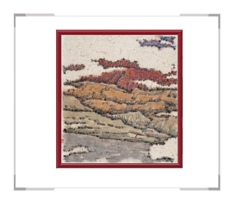当代书画家刘牧-十二月主题彩色风景之九月