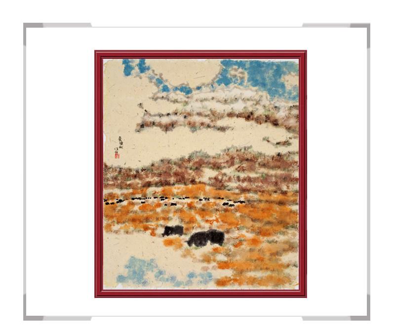 当代书画家刘牧作品-彩色风景画十二月主题之十月