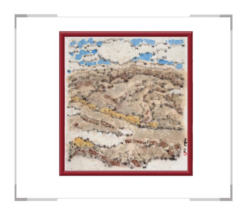 当代书画家刘牧作品-彩色风景画十二月主题之十一月