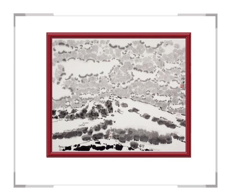 当代书画家刘牧作品-彩色风景画十二月主题之十二月