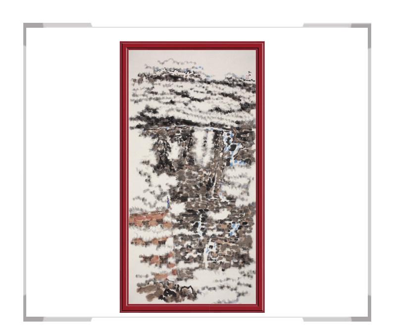 当代书画家刘牧-竖幅山水作品第二款