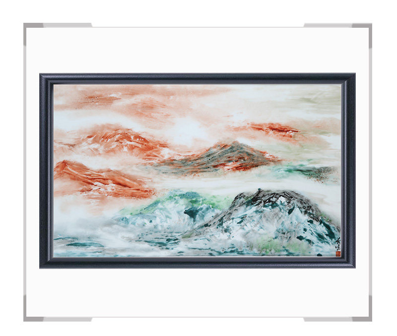 瓷板画-陈长生作品155【大国工匠 瓷艺东方】