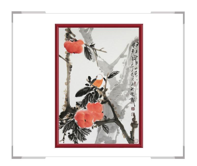 中国美术家协会会员刘晓东-竖幅花鸟作品第一款