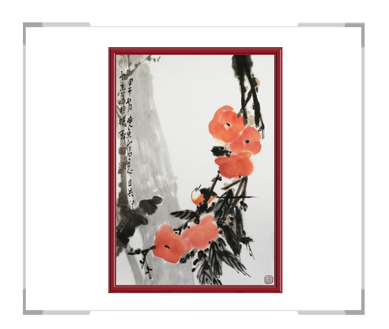 中国美术家协会会员刘晓东作品-花鸟画竖幅第一款