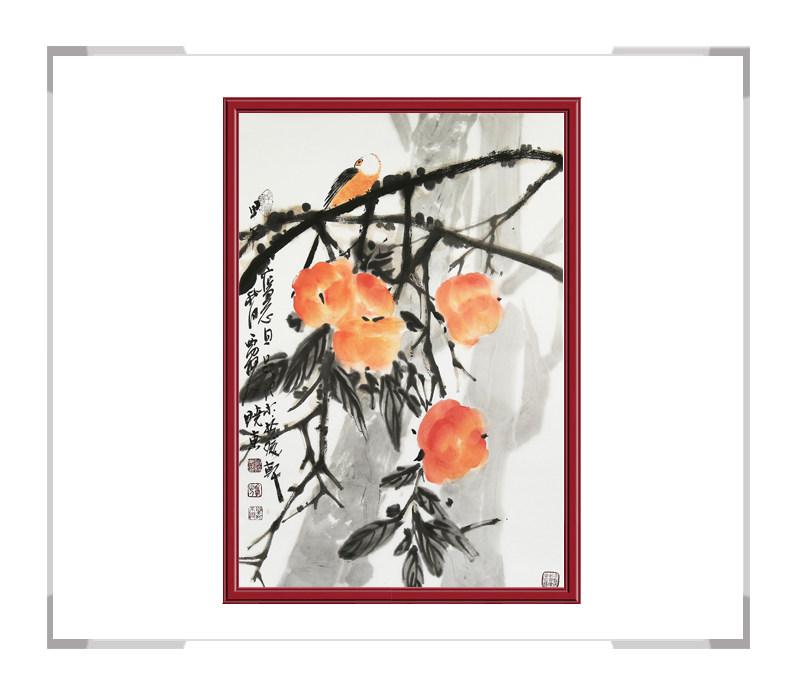 中国美术家协会会员刘晓东作品-花鸟画竖幅第二款