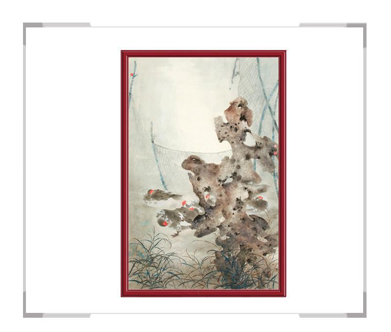 中国美术家协会国画家刘晓东-竖幅花鸟画第二款