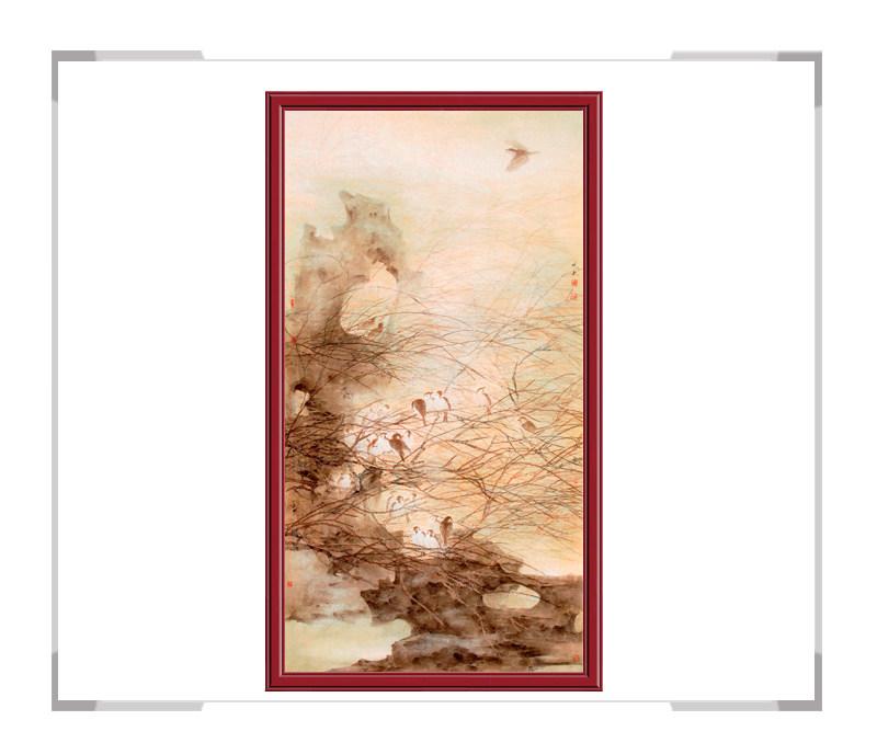 中国美协会员艺术家刘晓东老师-花鸟作品竖幅第一款