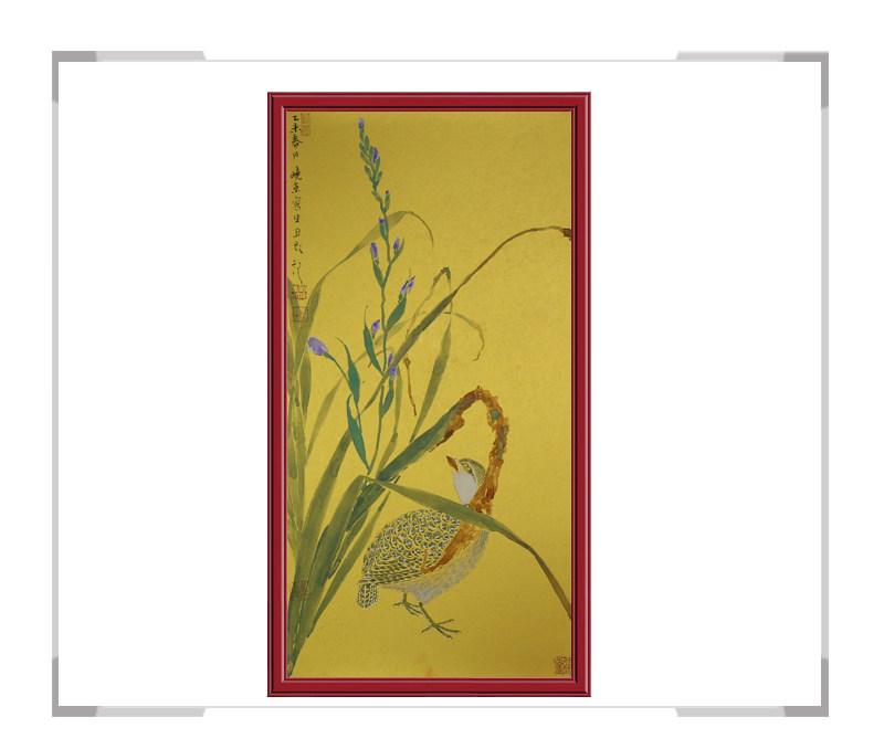 中国美术家协会刘晓东老师-花鸟竖幅作品第一款