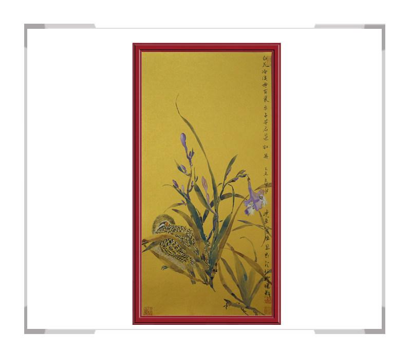 中国美术家协会刘晓东老师-花鸟竖幅作品第二款