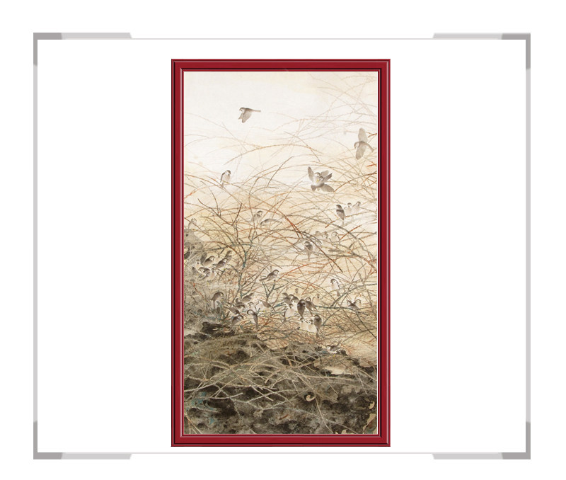 中国美协会员刘晓东竖幅花鸟作品第二款